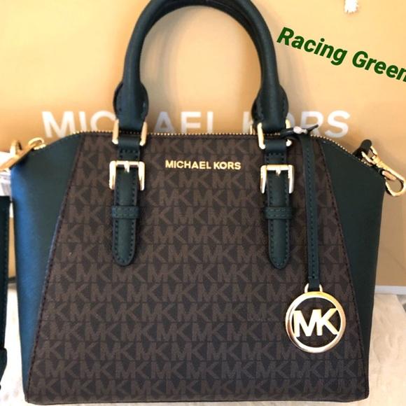Michael Kors Handbags - Michael KORS Ciara Racing Green Messenger Bag